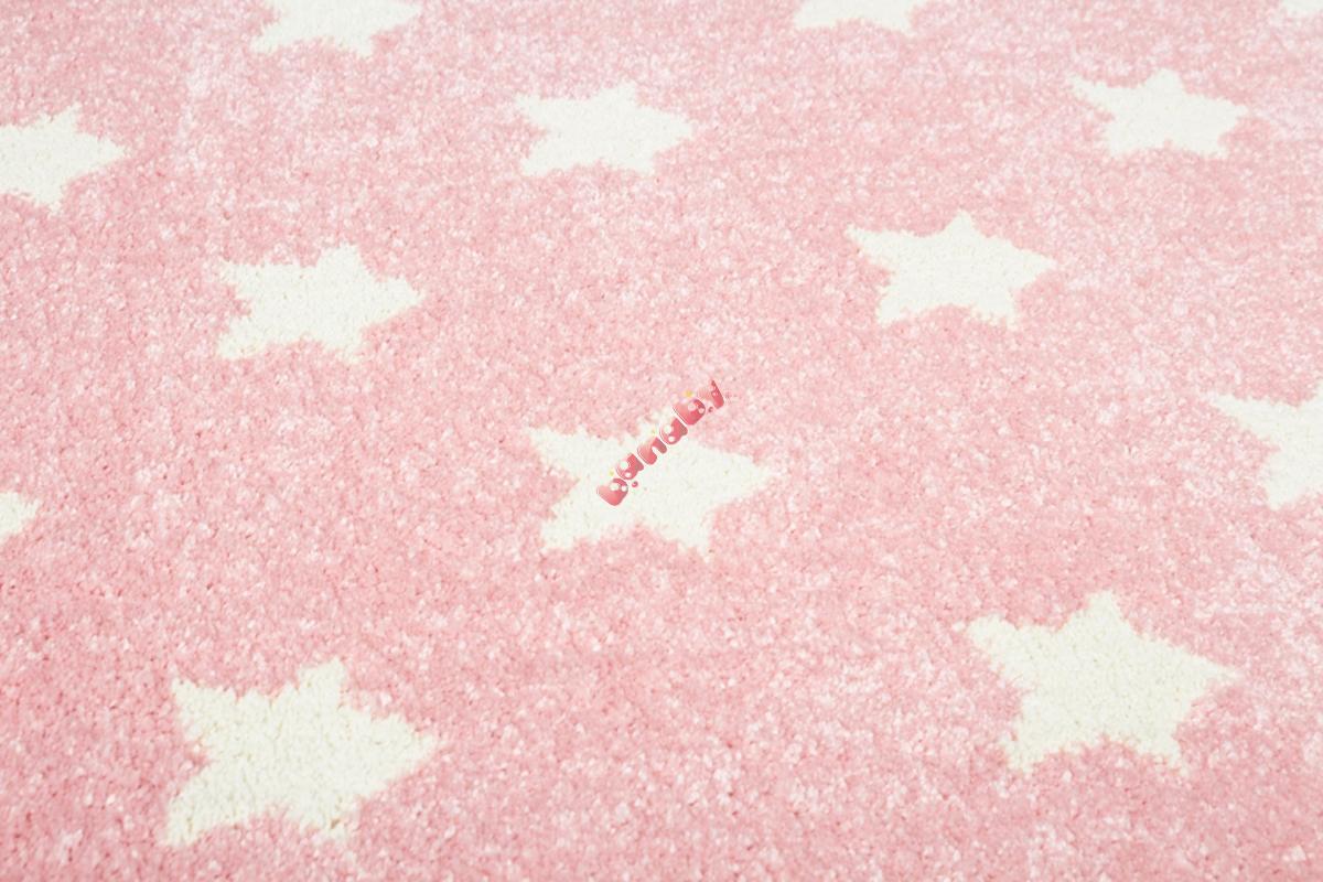 Dziecięcy dywan GWIAZDKI różowo biały