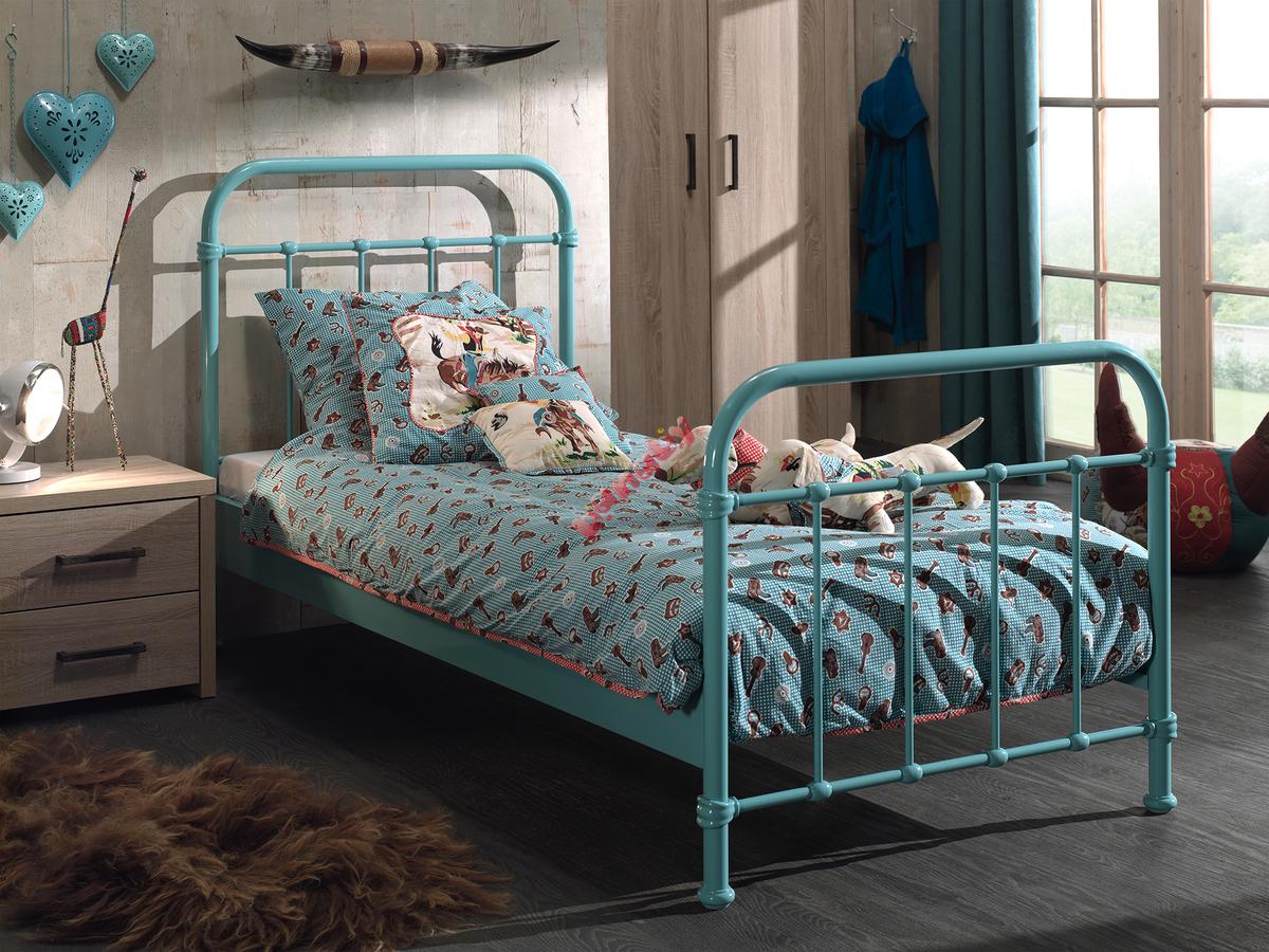 Metalowe łóżko Dla Dziecka New York Mięta