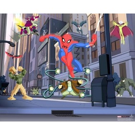 Tapeta 3D SPIDERMAN SPECTACULAR, Walltastic