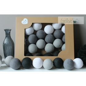 Cotton balls - grafitowe, cottonovelove