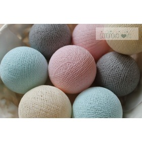 Cotton balls - pudrowe, cottonovelove